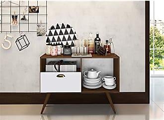 Estilare Aparador Buffet Bar 1 Porta Basculante BR55 Punk - Branco