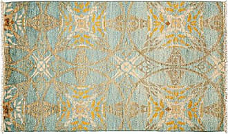 Solo Rugs M1811-373 Suzan Area Rug Hand Knotted Area Rug, 3 2 X 5 3, Blue