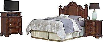 Home Styles 5575-5017 Santiago Headboard Night Stand and Media Chest, Queen/Full, Brown
