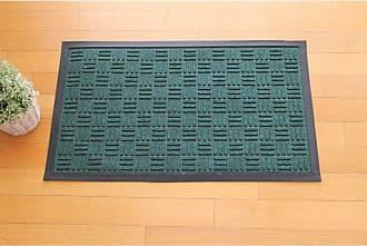 First Impression Geometric Green Polypropylene Indoor/Outdoor Door Mat - A1HOME200010