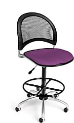 OFM 336-DK-2214 Moon Swivel Chair with Drafting Kit, Plum