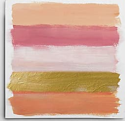 WEXFORD HOME Coral Strokes Gallery Wrapped Canvas Wall Art, 32x32