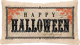 Heritage Lace Vintage Halloween Pillow, 12 by 20, Natural