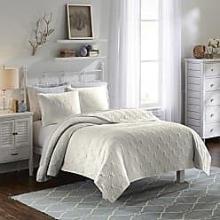 Ellery Homestyles Vue 15974BEDDF/QIVY Atlantis 90-Inch by 90-Inch 3-Piece Full/Queen Bedspread Set, Ivory
