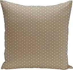 E by Design Ebydesign Geometric Decorative Pillow, Flax/Oatmeal