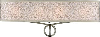 Feiss Parchment Park 4 - Light Vanity in Burnished Silver