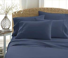 iEnjoy Home ienjoy Home 6-pc 100% Ultra-Soft Microfiber Bed Sheet Set - Navy - Size: K