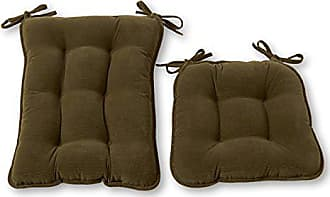 Greendale Home Fashions Standard Rocking Chair Cushion Set- Cherokee Solid, Sage