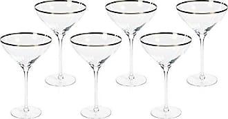 Zodax Grand Coupe Platinum Rim (Set of 6) Champagne Glasses, 6 Piece