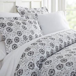 Noble Linens Make a Wish Duvet Set by Noble Linens - NL-DUV-MAW-QUEEN-LGRAY