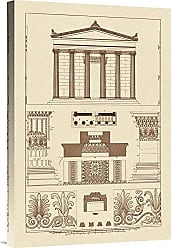 Bentley Global Arts Global Gallery Budget GCS-394643-1624-142 J. Buhlmann Portico Coffer and Palmette-Ornament Gallery Wrap Giclee on Canvas Wall Art Print