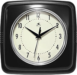 Infinity Instruments 9 Square Retro 9W x 9H in. Wall Clock Sailor Blue White - 15513SB-4103