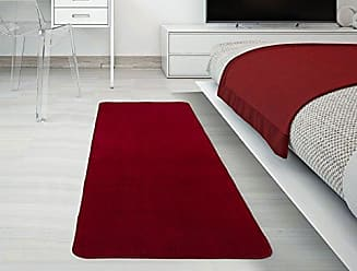 Ottomanson Softy Collection Solid Non-Slip Kitchen/Bath Rug, 20 X 59, Red