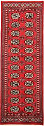 Nain Trading Pakistan Buchara 2ply Rug 62x22 Runner Dark Brown/Red (Pakistan, Hand-Knotted, Wool)