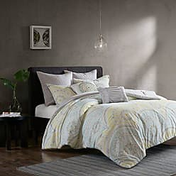 Urban Habitat Matti Teen Girls Boys Duvet Cover Set King/Cal King Size - Pale Aqua, Yellow, Medallion - 7 Piece Bed Covers Bedding Sets - 100% Cotton Percale Duvet Cover Set
