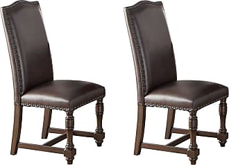 Winners Only Dark Brown Upholstered Side Chair - Set of 2 - WIN658-1