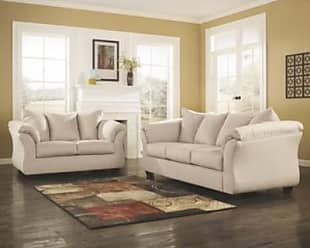 Ashley Furniture Darcy Sofa and Loveseat, Stone