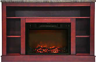Cambridge Silversmiths Seville Fireplace Mantel with Electronic Fireplace Insert, Cherry