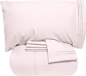 Sweet Home Collection 5 Piece Comforter Set Bag Solid Color All Season Soft Down Alternative Blanket & Luxurious Microfiber Bed Sheets, King, Pale Pink