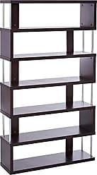 Wholesale Interiors Baxton Studio Barnes 6-Shelf Modern Bookcase, Dark Brown