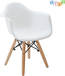 Rivatti Cadeira Infantil Eiffel Eames DAW Branca