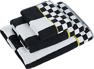 MacKenzie-Childs Courtly Stripe Towel - Black/White - Hand Towel