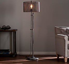 Southern Enterprises Zimbler Floor Lamp - Modern Floor Lamp w/ Adjustable Height - All Metal Mesh Shade