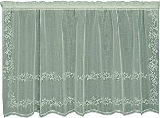 Heritage Lace Sheer Divine Tier, 60 by 36-Inch, Flax