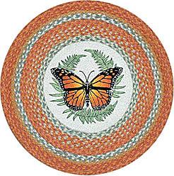 Earth Rugs 66-382M Round Rug, 27, Orange/Sage/Crème
