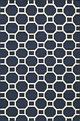 Momeni Rugs LAGUALG-01NVY80A0 Laguna Collection, 100% Wool Hand Woven Flatweave Contemporary Area Rug, 8 x 10, Navy Blue