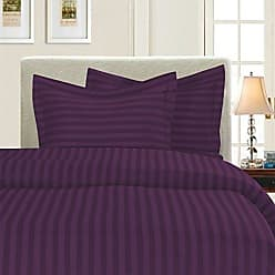 Elegant Comfort Silky-Soft 1500 Thread Count Egyptian Quality Wrinkle-Free 3-Piece Duvet Cover Set, Full/Queen, Purple