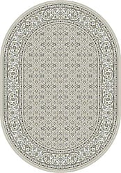 Dynamic Rugs ANOV69570119666 Ancient Garden Collection Area Rug 53 x 77 Oval Soft Grey/Cream