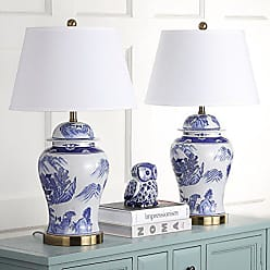 Safavieh Lighting Collection Shanghai Ginger Jar Blue and White 29-inch Table Lamp (Set of 2)
