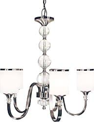 Z-Lite 308-5 Cosmopolitan 5 Light 1 Tier Chandelier with White Shade