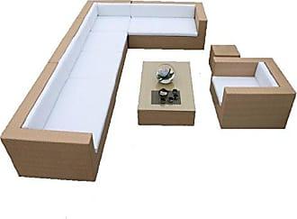 Benzara ETD-EN110600 7-Piece Pleasant Set Aluminum Powder Coated Sofa Set