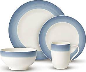 Villeroy & Boch Colorful Life Winter Sky Dinner Set by Villeroy & Boch - Premium Porcelain - Made in Germany - Dishwasher and Microwave Safe - Serves 2