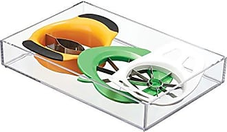 InterDesign Clarity Plastic Drawer Organizer, Storage Container for Vanity, Bathroom, Kitchen Drawers, 8 x 12 x 2, Clear