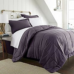 iEnjoy Home Simply Soft Bed in A Bag, Queen, Purple