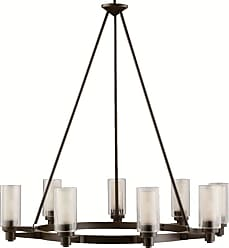 SONNEMAN Kichler 2346 Circolo 9 Light 36 Wide Chandelier with Dual Cylindrical