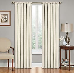 Ellery Homestyles ECLIPSE 42 x 54 Insulated Darkening Single Panel Rod Pocket Window Treatment Living Room, Ivory