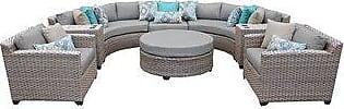 TK Classics Florence 8 Piece Outdoor Wicker Patio Furniture Set 08e (standard)