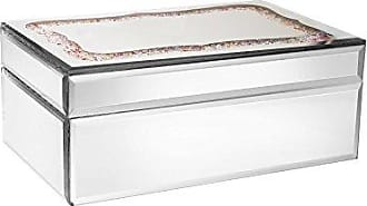 The Jay Companies American Atelier Rectangle Mirror Jewelry Box-Silver