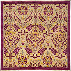 Solo Rugs Suzani Hand Knotted Square Rug 5 3 x 5 4 Pink
