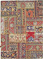 Nain Trading Handknotted Patchwork Rug 611x411 Orange/Purple (Wool, Iran/Persia)