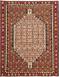 Nain Trading Oriental Kilim Senneh Rug 51x311 Beige/Pink (Wool, Iran/Persia, Hand-Knotted)