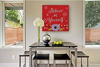 WEXFORD HOME Believe in Yourself Gallery Wrapped Canvas Wall Art, 16x16