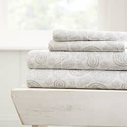 Noble Linens Coarse Paisley Sheet Set by Noble Linens Light Gray, Size: Queen - NL-4PC-COP-QUEEN-LGRAY