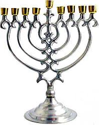 Biedermann & Sons Inc. Nickel/Brass Ornate Menorah Candle