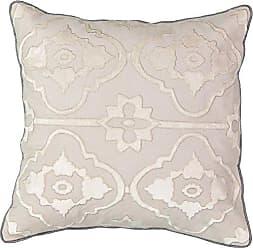 Ellery Homestyles Beautyrest La Salle Applique Decorative Pillow, 18x18, Pumice
