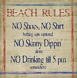 Thirstystone 4-Piece Beach Rules Coaster Set
